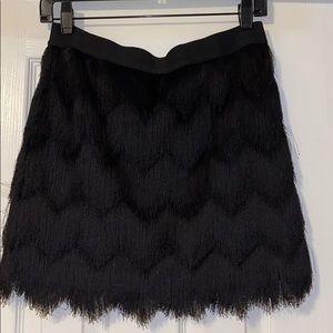 Fringe Black BCBG skirt.